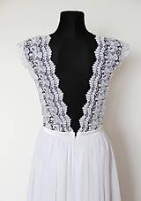 Šaty - Svadobné šaty z hrubej krajky a šifónu - 4456077_