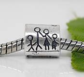Pandorkový prívesok s nápisom FAMILY