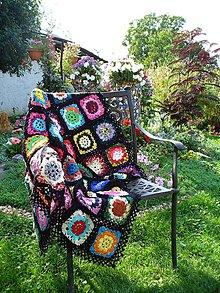 Úžitkový textil - Háčkovaná deka - Srdcová záležitosť - 4455918_