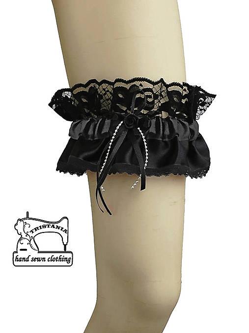 Podväzok pre čierne prádlo 0540