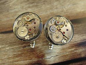Šperky - Strojkové okrúhle manžetové gombíky v lôžku II - 4459816_