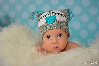 Detské čiapky - Sovička Emka - 4459992_