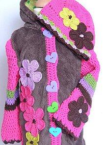 Detské oblečenie - Zmiešaná bundička,čiapka a štucne - 4458581_