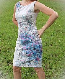 Šaty - Ručne maľované elegantné... - 4457713_