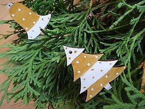 Dekorácie - vianocne ozdoby zlate gulickove - 4459591_