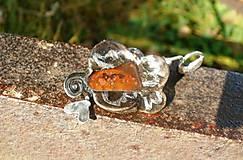 Ruža- achát farebný-prívesok tiffany