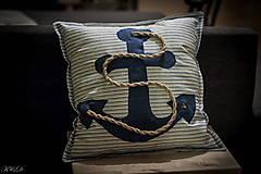 """Úžitkový textil - Vankúšik """"Nautical style"""" - 4461504_"""