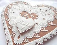 Dekorácie - Darujeme Ti srdce... Medovník - 23 cm - 4461572_