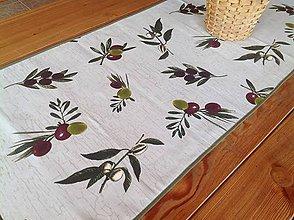 Úžitkový textil - Štóla - Oliva - - 4462805_