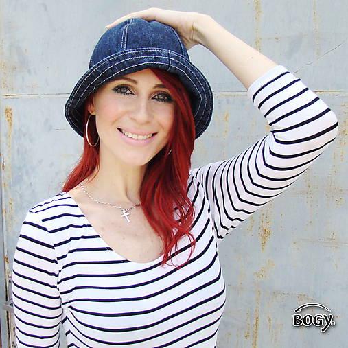 62511a72b Tmavěmodrý džínový klobouk unisex / BOGY - SAShE.sk - Handmade Čiapky