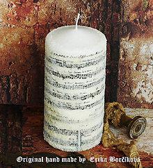 Svietidlá a sviečky - Trblietavý cukor a noty... - 4463085_