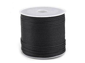 Galantéria - šnúrka voskovaná bavlna 1,5-2mm - 4463527_