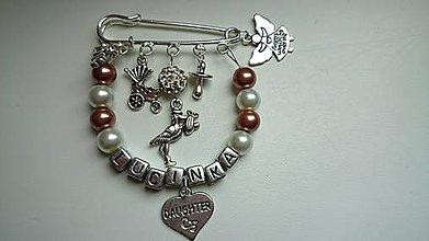 Odznaky/Brošne - Personalizovaná brošnička na kočík, či pre maminy, babiny, tety na kabelku - 4463598_