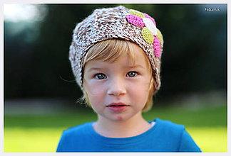 Detské čiapky - čokoládová pusinka - 4464052_