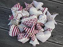 - Vianočné ozdôbky 30 ks - kolekcia bordó  - 4463574_