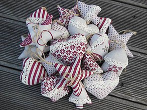 Dekorácie - Vianočné ozdôbky 30 ks - kolekcia bordó - 4463574_