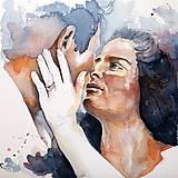 - Akvarelový portrét dvoch ľudí na objednávku LARGE (A2) - 4463962_