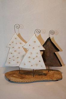 Dekorácie - stromčeky bielo-ligotavé - 4465002_