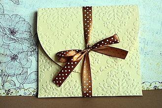 Papiernictvo - Obal na svadobné/iné CD/DVD - 4467107_