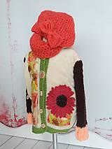 Detské oblečenie - Lososovokrémový outfit - 4466741_