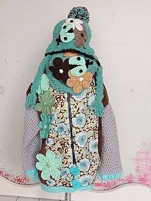 Detské oblečenie - Čokotyrkysový outfit - 4466777_