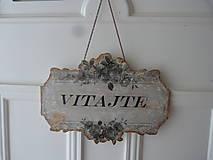 Tabuľky - vintage vitajte - 4470004_