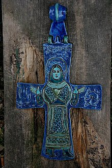 Dekorácie - Byzantský kríž - 4470359_