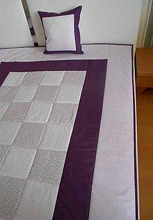 Úžitkový textil - Patchwork deka 140 x 200 + vankúšik ZADARMO !!! - 4469283_
