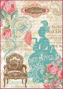 Papier - Ryzový papier, Lady Versailles, DFSA4046 - 4470814_