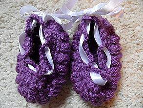 Topánočky - fialkové nízke topánočky - 4468973_