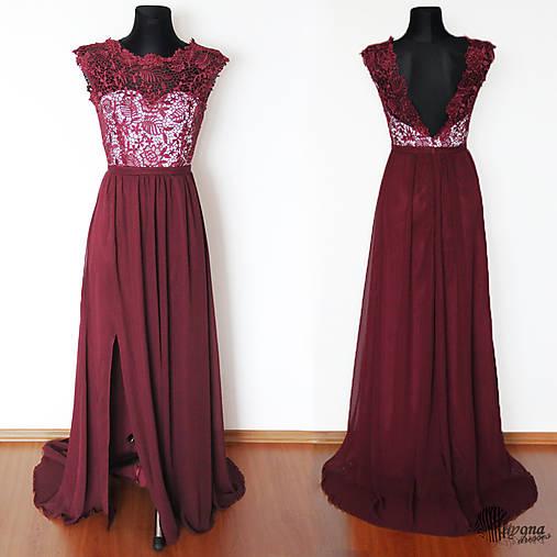 10ab88326893 Spoločenské šaty z hrubej krajky a holým chrbátom rôzne farby ...