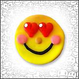 Magnetky - Zamilovaný smajlík - magnetka  - 4468579_