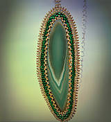 Náhrdelníky - Achátový amulet - 4469269_