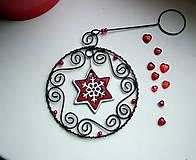 Dekorácie - vianočná dekorácia hviezda - 4471424_