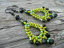 Náušnice - Náušnice Zelené Slzy katedrály - 4473099_