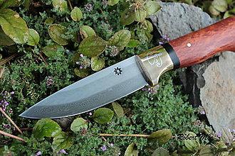Nože - Nôž s damaškovou čepeľou - 4473872_
