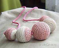Náhrdelník . ružový ako po babičke