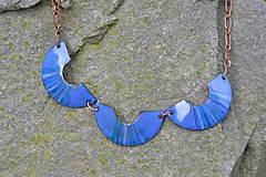 Náhrdelníky - houpačky modré - 4472417_