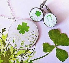 Sady šperkov - sada Čtyřlístek pro štěstí - 4473921_