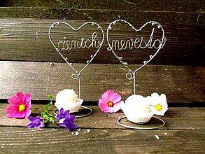 Papiernictvo - svadobné menovky 2 kusy - 4471325_