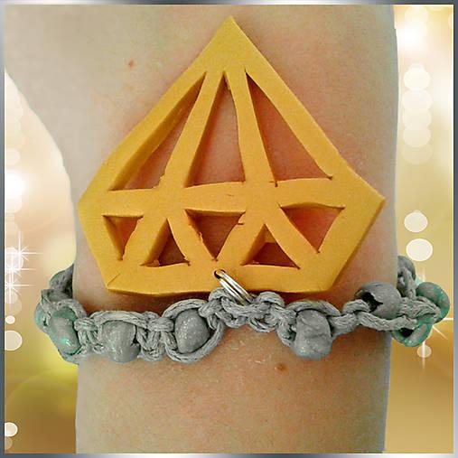 Zlato, striebro, diamanty...fake luxus :-D (Shamballa náramok)