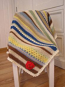 Textil - Deka miš-maš II. - s mackom - 4475935_