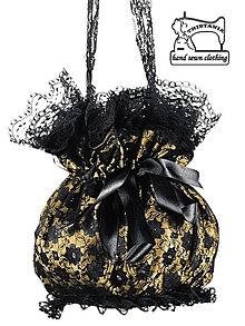 Kabelky - Čipková kabelka so saténom , pompadúrky 0290 - 4477871_