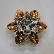 Korálky - Kvet plast-1ks (10=55x19mm) - 4478668_