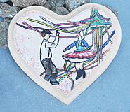 Dekorácie - Drevené srdce na ľudovú nôtu - 4478959_