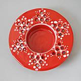 Svietidlá a sviečky - Svícen na čajovou svíčku 10 červený - 4476519_