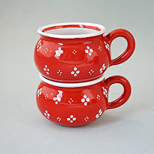 Nádoby - Buclák 5 espresso 4puntík  - červený - 4476622_