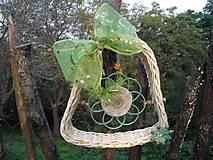 Dekorácie - zelená pani - 4476267_
