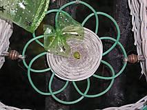 Dekorácie - zelená pani - 4476268_