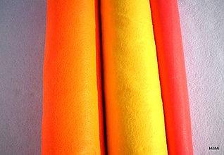 Textil - filc, plsť metráž červenooranžová - 4480719_